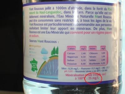 Une eau de qualité = une bonne santé