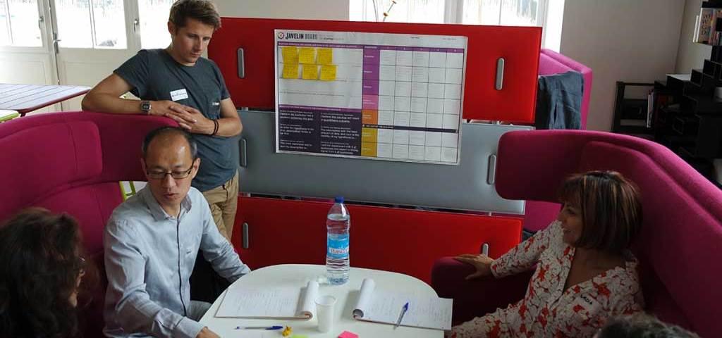 L'équipe d'Izeepay pendant le ShiftCamp