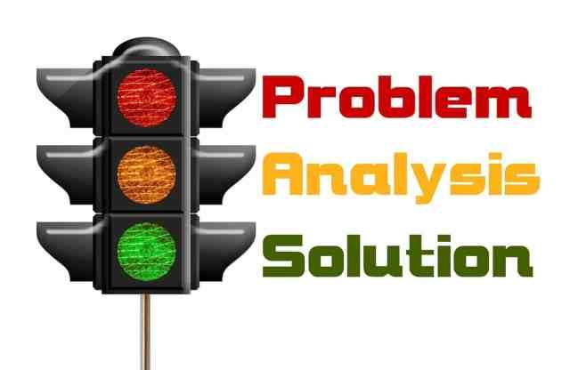 problème, analyse, solution