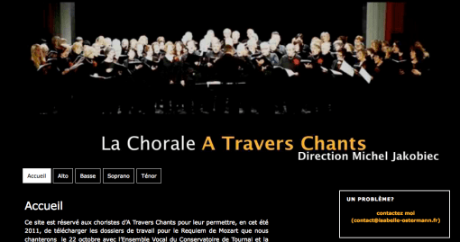 Extranet pour A Travers Chants