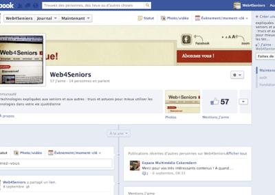 Page Facebook de Web 4 Seniors