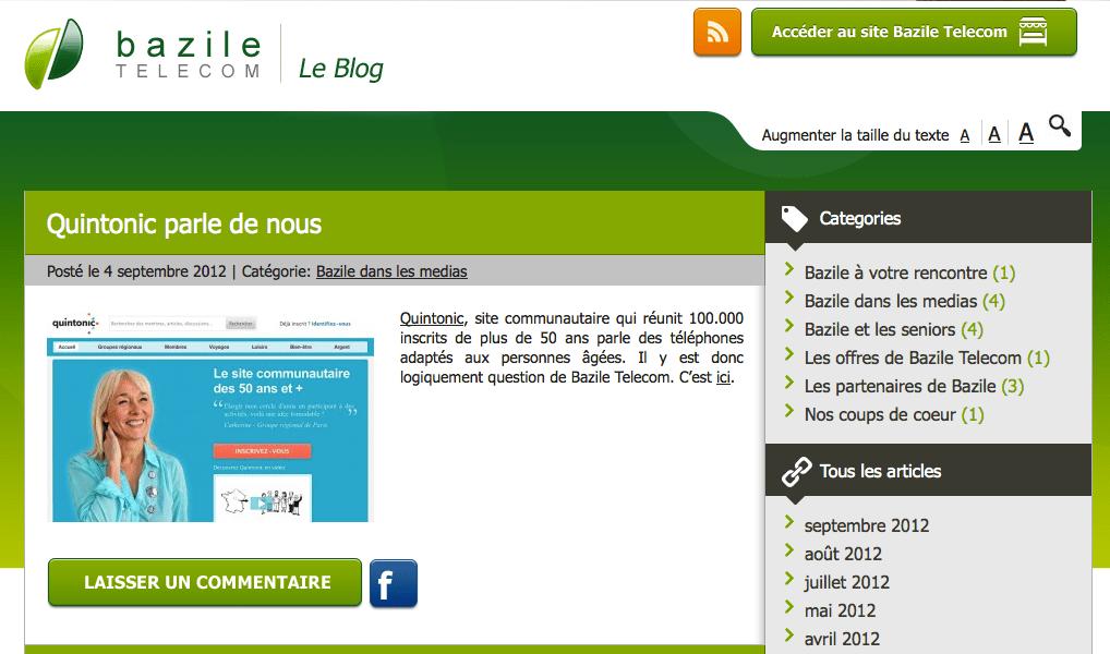 Blog de Bazile Telecom