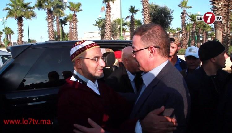 """تشييع جنازة الراحل """"مصطفى مديح"""" بحضور فوزي لقجع."""