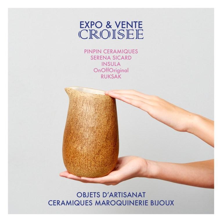 une boutique éphémère céramiques et maroquinerie au 8 Petion 75011