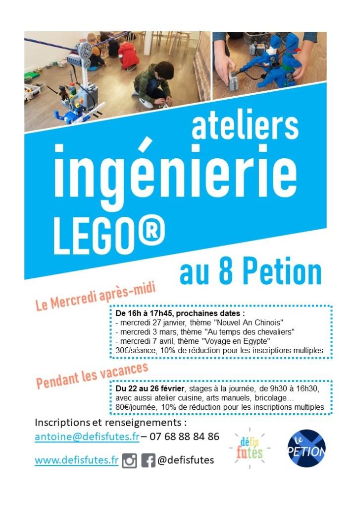 stage enfants vacances de février au 8 Petion Paris 11