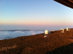 La Palma, Canary Is, Spain. View from the Nordic Optical Telescope; observing great when *above* the clouds