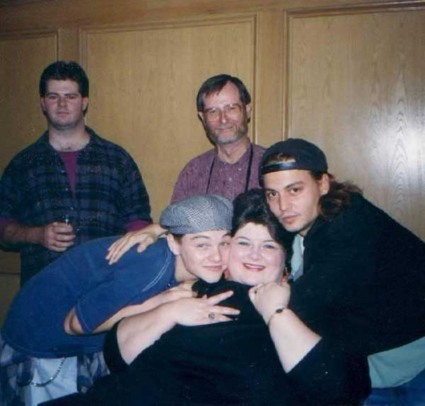 Leonardo-DiCaprio-Darlene-Cates-and-Johnny-Depp-on-the-set-of-Whats-Eating-Gilbert-Grape
