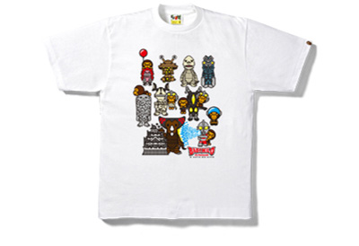 ULTRA MONSTERS TEE COLOR: WHITE, BLACK MEN'S ¥7,560(TAX IN.) KIDS ¥5,616(TAX IN.)