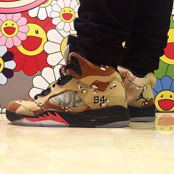 supreme-air-jordan-5-camo-on-foot-1
