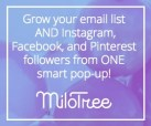 Milo Tree Grow your email list and instagram facebook and Pinterest followers all from one pop up