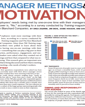 Training Magazine Manager Meetings & Motivation