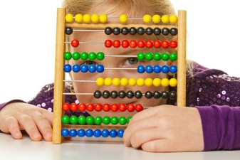school child is expecting an abacus