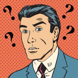 Male Question Marks Misunderstanding Enigma Men Pop Art Comics R
