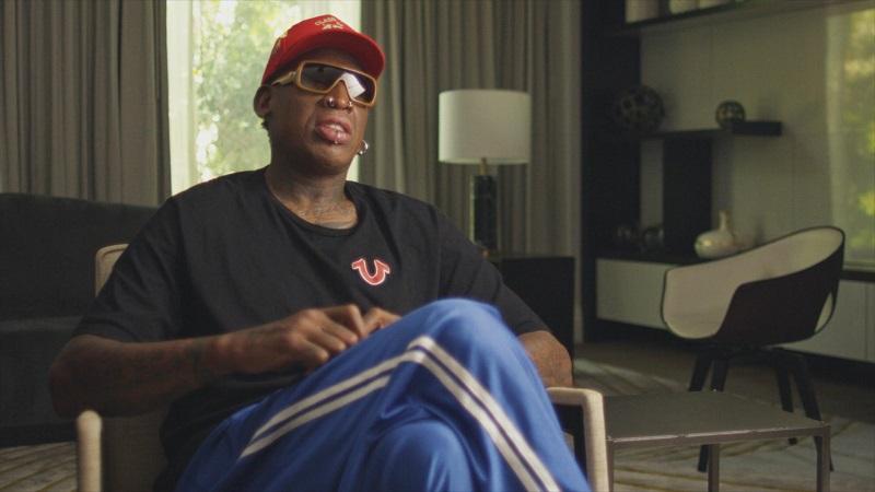Dennis Rodman en interview pour le docufiction The Last Dance
