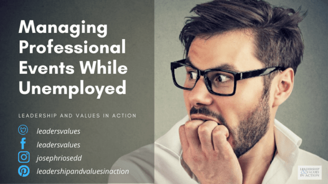 Managing Professional Conferences While Unemployed