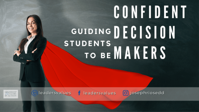Guiding students to be confident decision makers