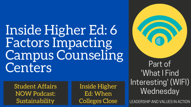 Inside Higher Ed: 6 Factors Impacting Campus Counseling Centers