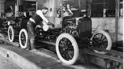 Henry Ford in Car assembly