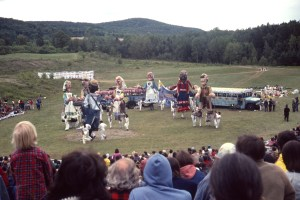 At the Bread and Puppet Circus - an outdoor scene that took place every summer in Vermont.