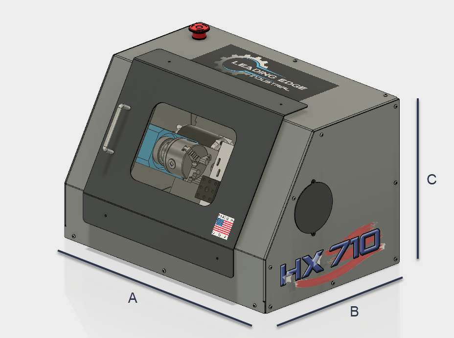 HX8410 VMC Dimension Call-out Drawing