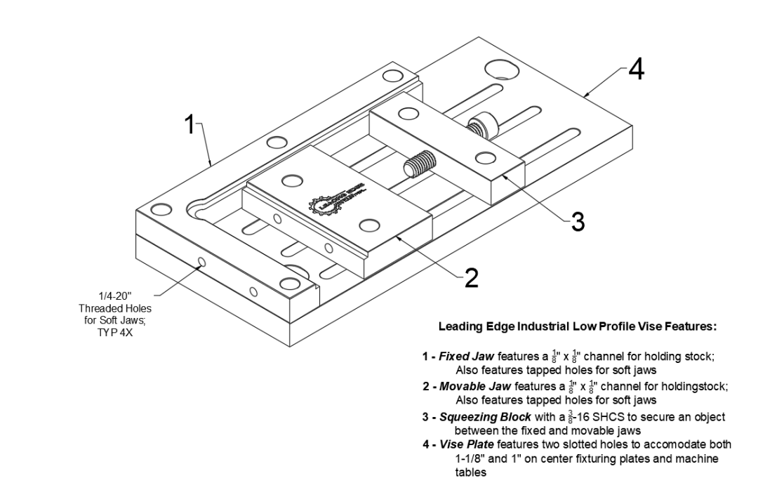LEI Low Profile Vise Features