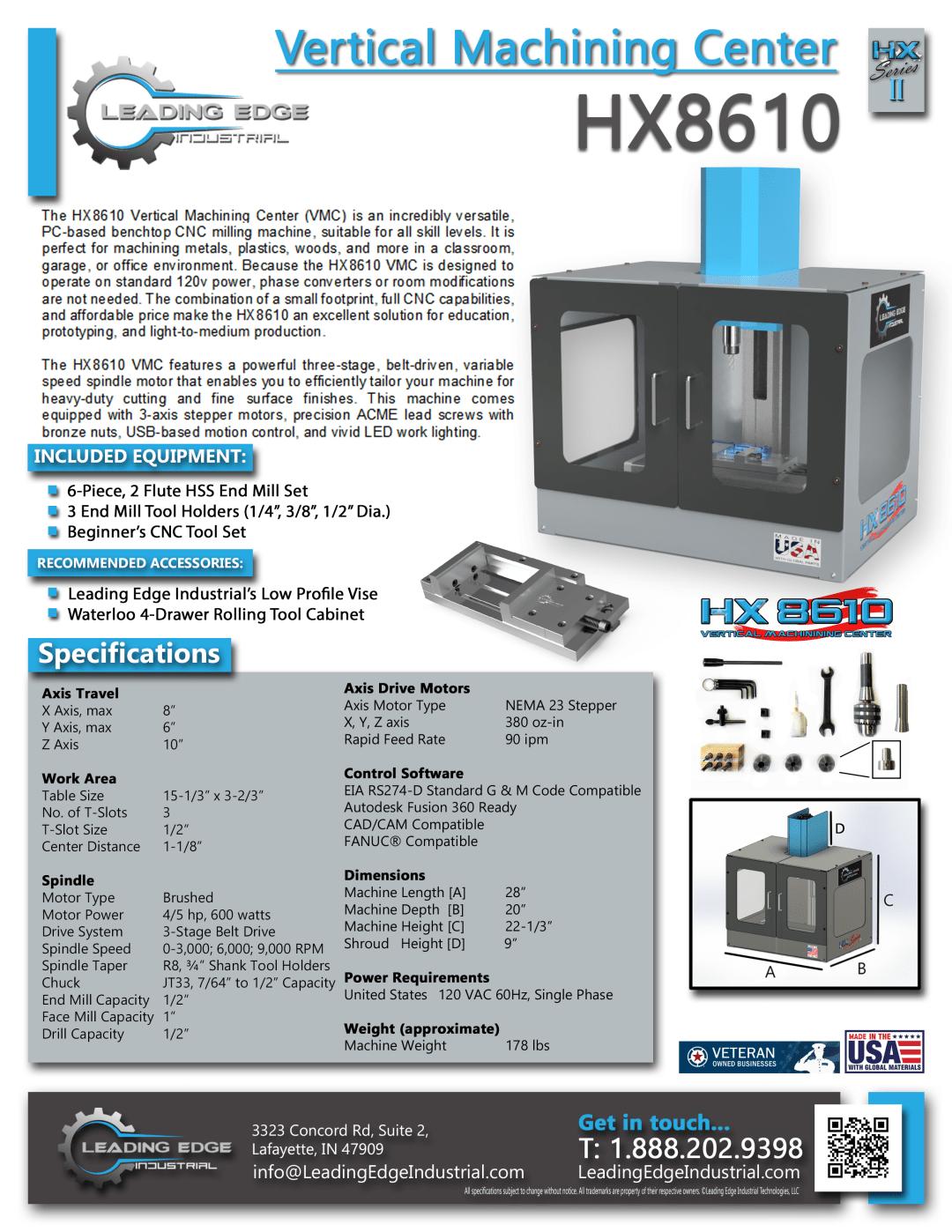 HX8610 Vertical Machining Center (HX8610 VMC) HX Series II CNC