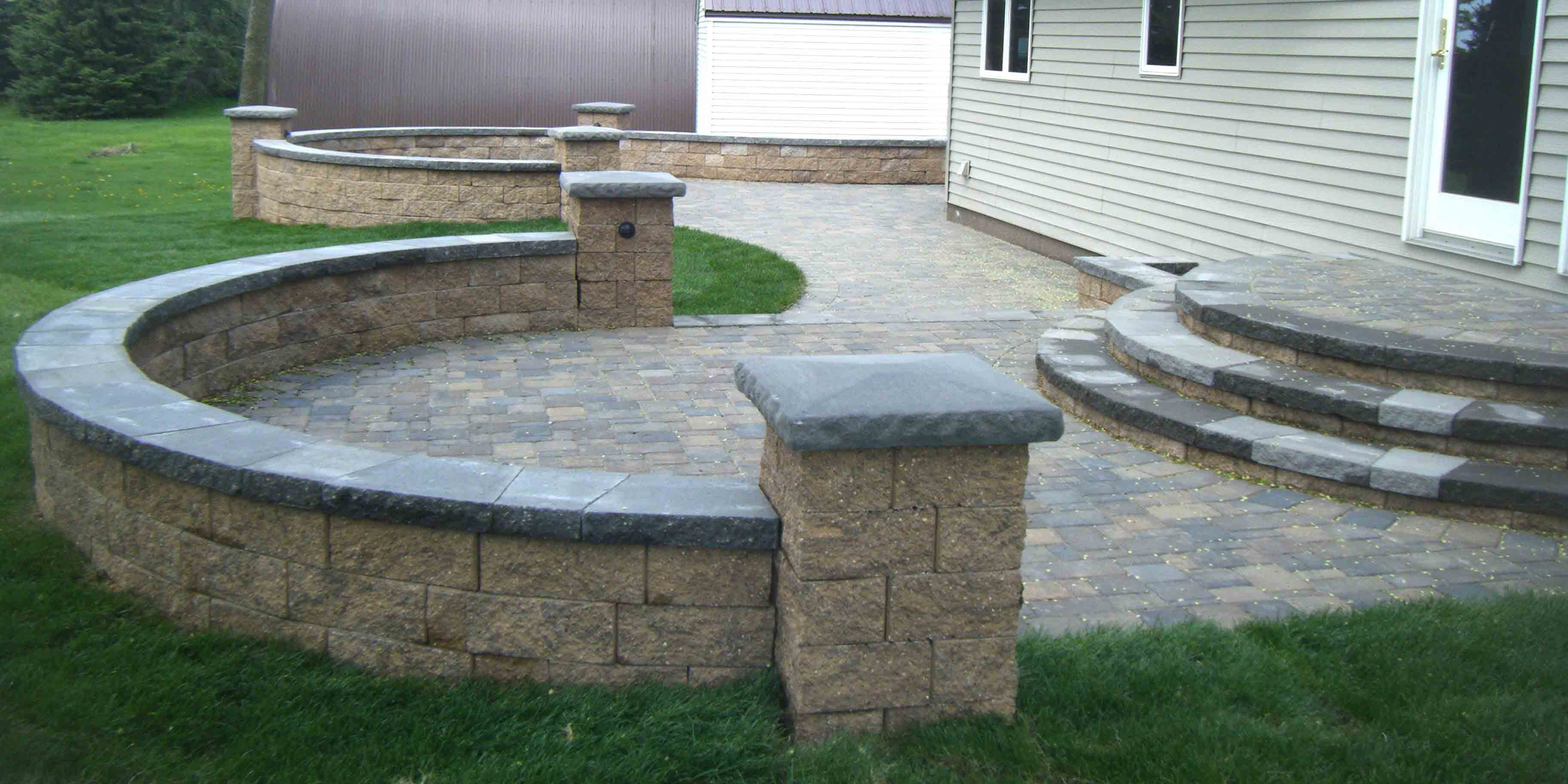 paver patio steps - Leading Edge Landscapes on Yard Paver Ideas  id=64062