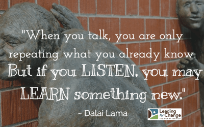 Are you talking or listening?
