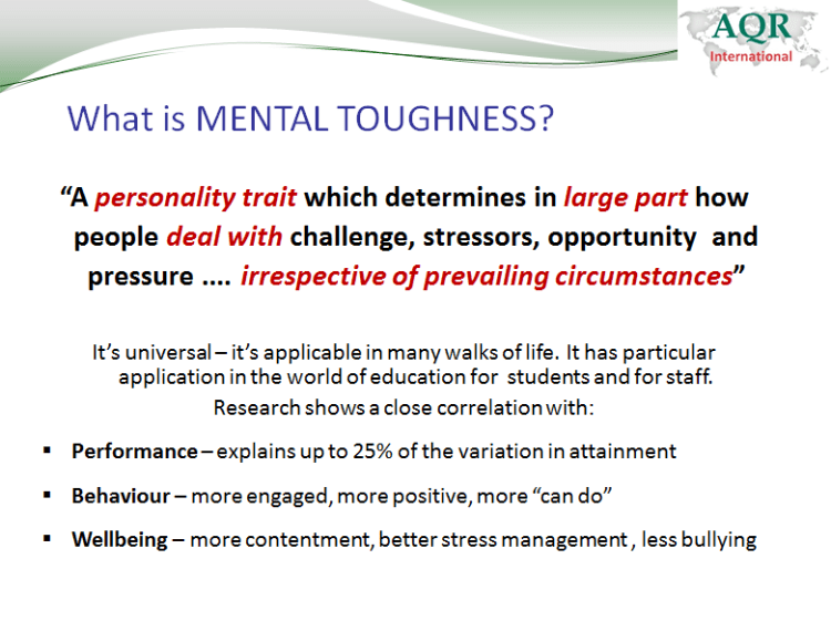 Mental Toughness Being The Best You Can Be LeadingLearner