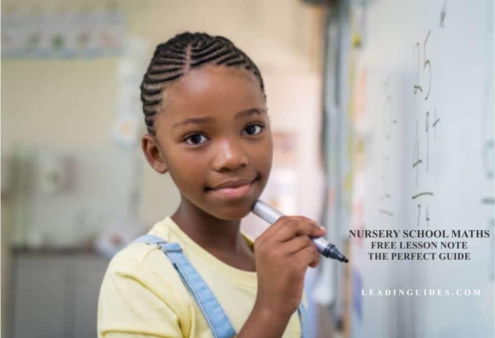 Lesson Note Nursery 1 First Term Mathematics Week 7