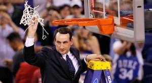 Coach K Cutting Down the Net