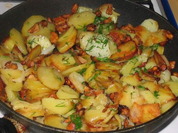 Опята жареные с картошкой. Пошаговый рецепт приготовления ...