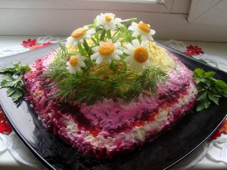 оформление салата шуба к праздничному столу фото представления том