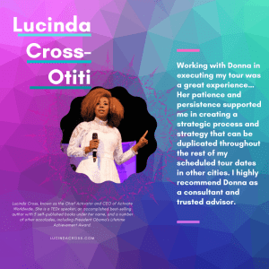 testimonial about donna by lucinda cross-otiti