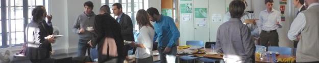 talking through ideas in a workshop breakout