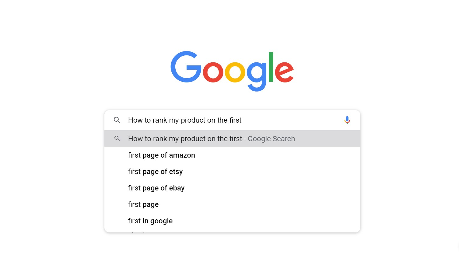 how to rank my product on the first page of google