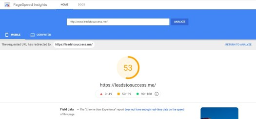 how to measure the speed of your mobile website with Pagespeed insights
