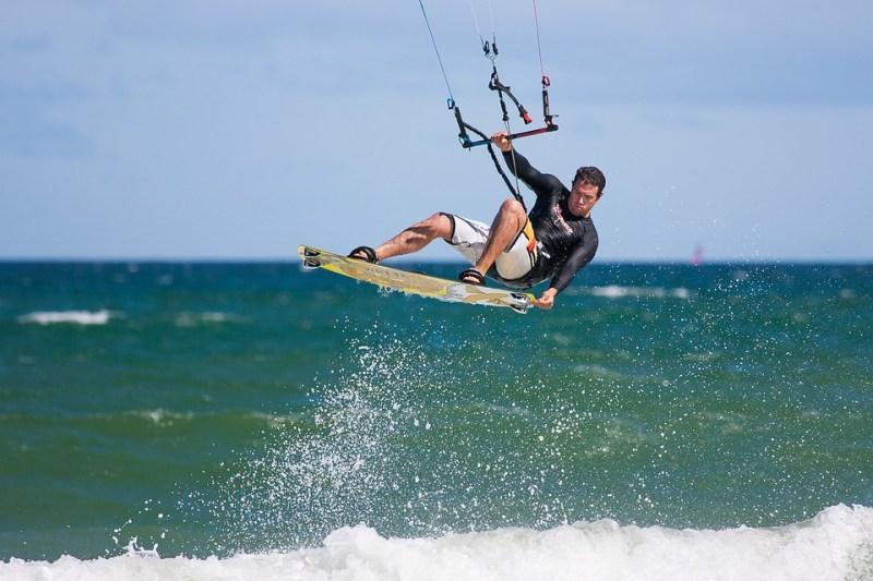 Bush and beach safari: kite boarding in Africa