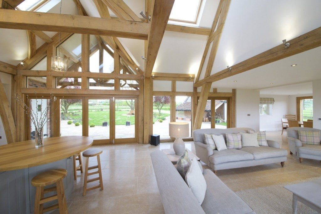 Oak framed kitchen, dining and garden room extension to ... on Rustic:1Gdhjdx6F3G= Farmhouse Kitchen  id=82963