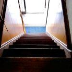 二階への階段です。(リビング)