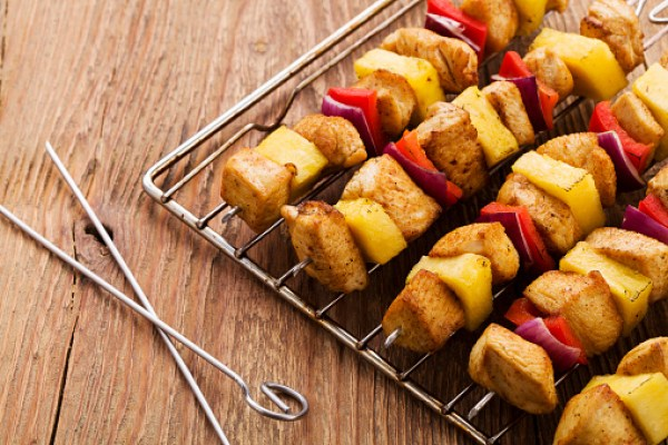 Pineapple Chicken Kebabs Date Night Dinner Ideas