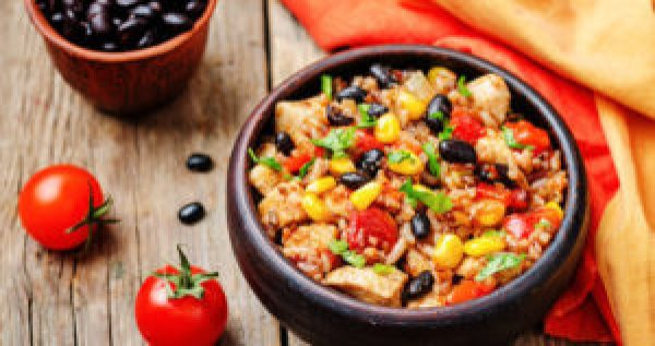 Mexican Recipes Turkey Tex-Mex Black Beans & Rice