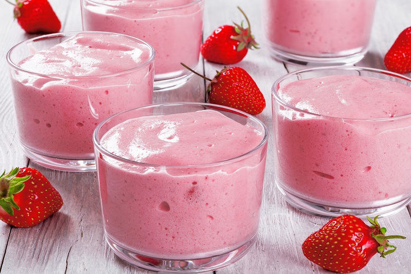 strawberry cheesecake pudding