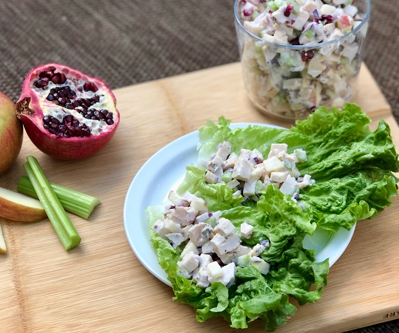 The Leaf Summer Chicken Salad with Pomegranate