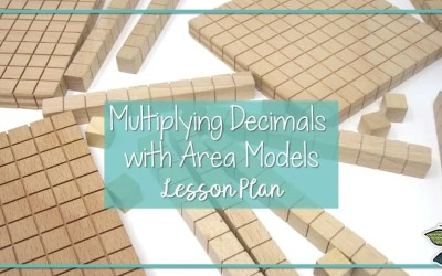 Free Lesson Plan Materials for Area Model Multiplication