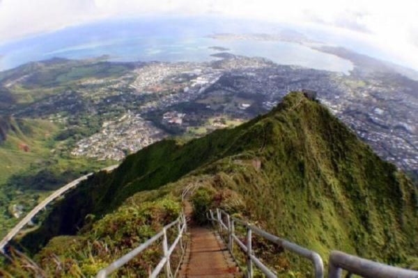 Дорога в небо: головокружительная тропа Хайку на Гавайях ...