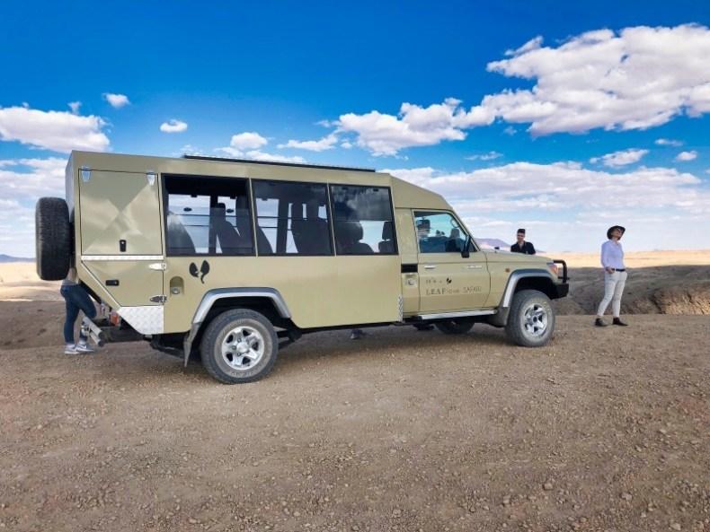 Umgebaute Safari Landcruiser für optimale Beobachtungen der Natur und für die Vogelfotografie