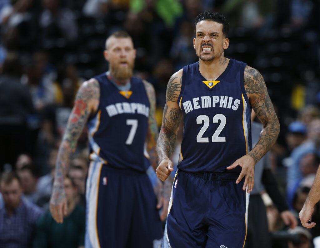Matt Barnes reacts after being fouled.