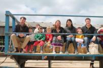 Tractor trailer rides at Newbottle Estate