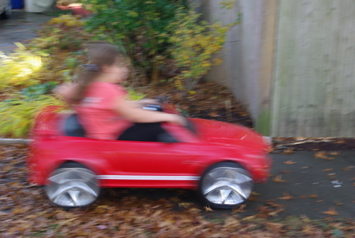 Underage drivers in red convertible